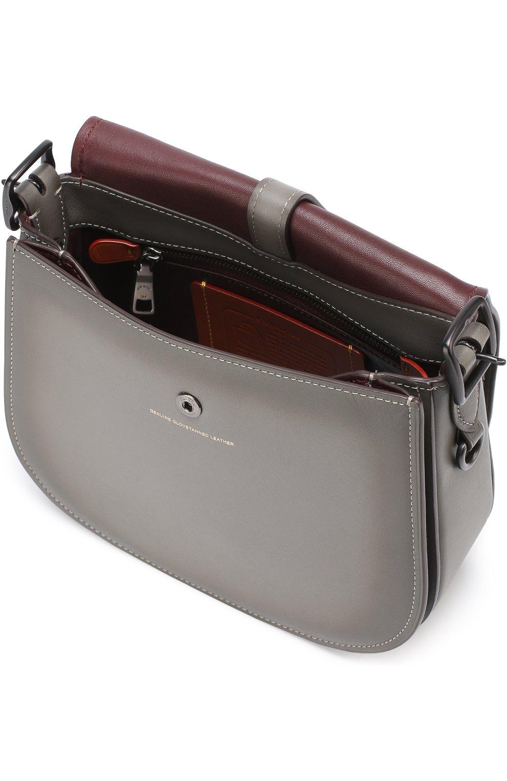 d451713734a2 Женская сумка saddle bag 23 COACH серая цвета — купить за 42050 руб ...