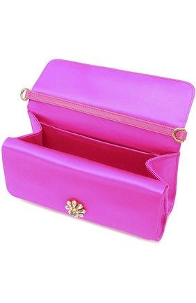 Атласный клатч Dorina с кристаллами Dolce & Gabbana фуксия цвета | Фото №4
