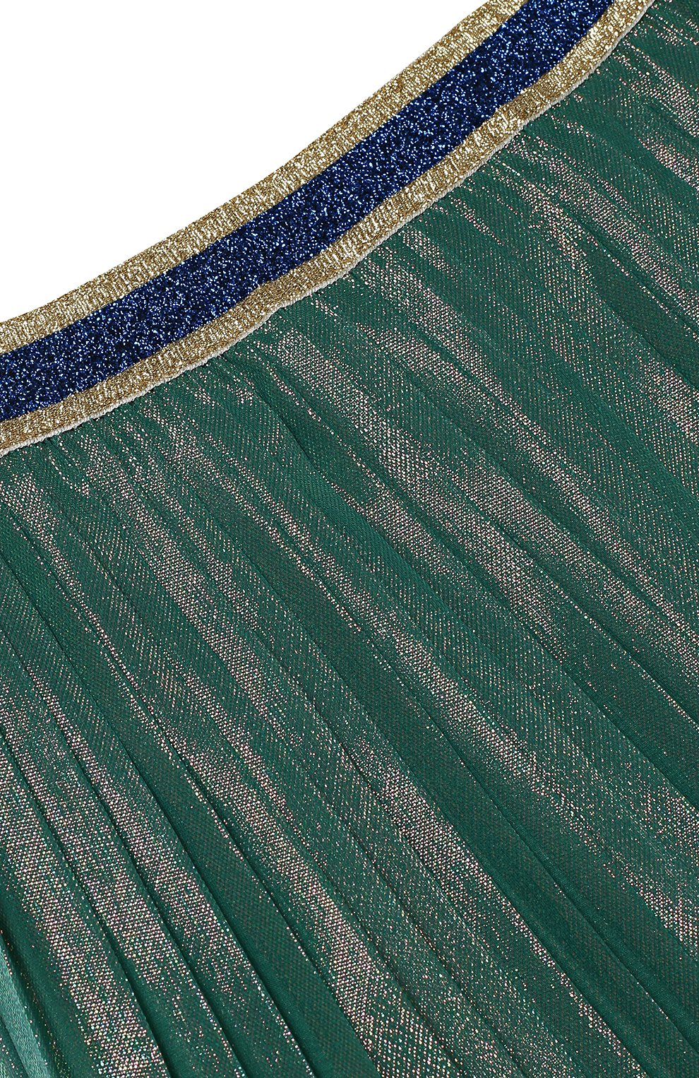 Юбка из шелка с металлизированным волокном   Фото №2