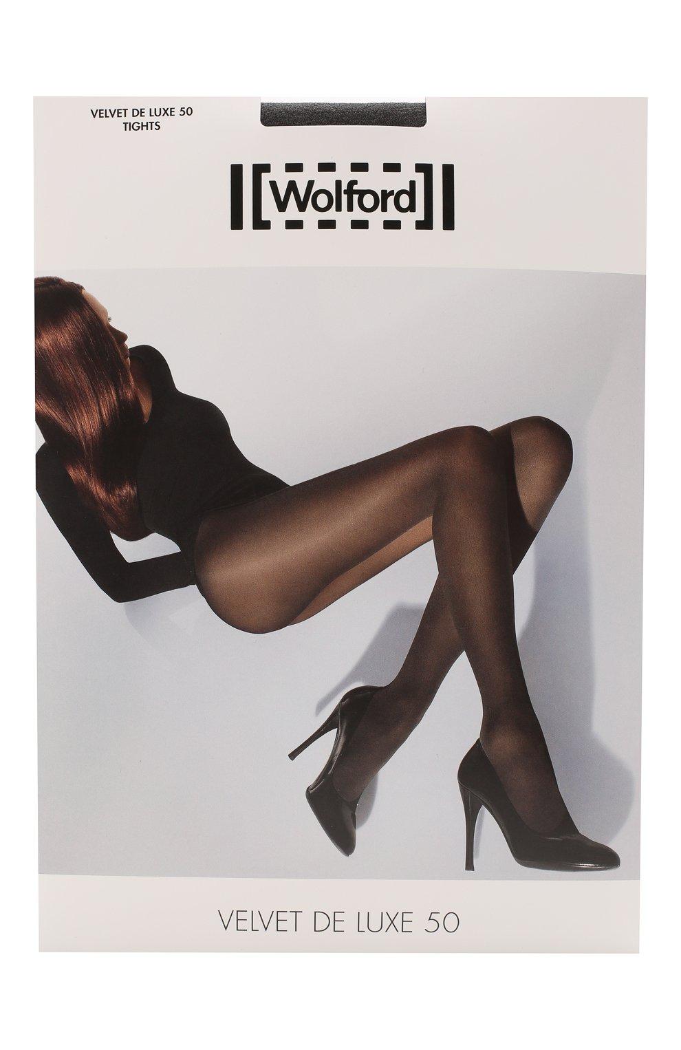 Женские капроновые колготки WOLFORD серого цвета, арт. 10687 | Фото 1