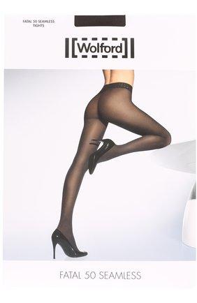 Женские капроновые колготки WOLFORD черного цвета, арт. 10788 | Фото 1