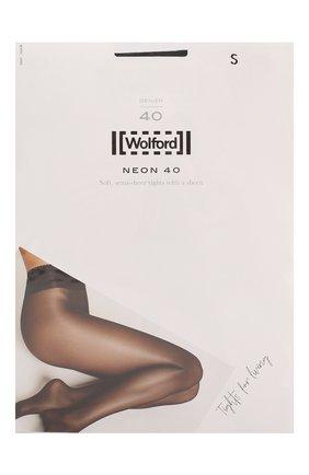Женские капроновые колготки neon 40d WOLFORD серого цвета, арт. 18391   Фото 1