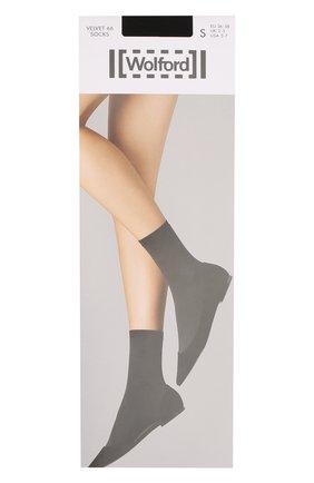 Женские капроновые носки WOLFORD черного цвета, арт. 40934 | Фото 1