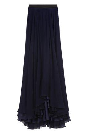 Шелковая юбка-макси с подолом | Фото №1