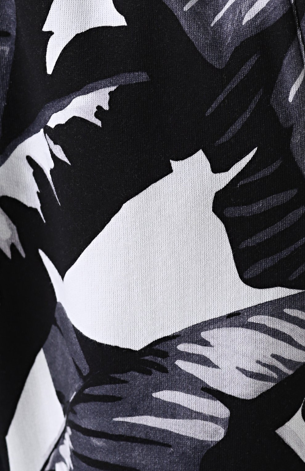 Хлопковые джоггеры с принтом Dolce & Gabbana серые | Фото №5