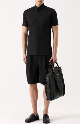 Слипоны Mondello из плетеной кожи Dolce & Gabbana черные | Фото №2