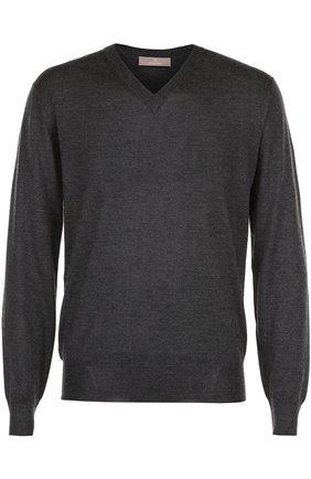 Пуловер тонкой вязки из смеси кашемира и шелка | Фото №1