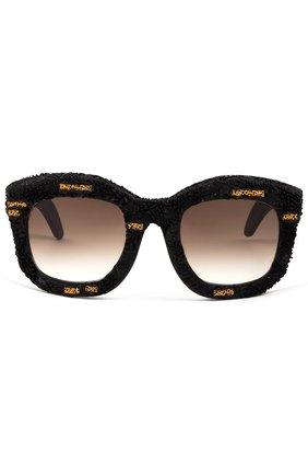 Солнцезащитные очки Kub0raum черные   Фото №1