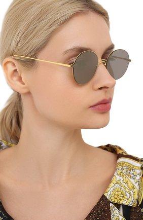 Женские солнцезащитные очки GENTLE MONSTER золотого цвета, арт. BY HER 03 (2M) | Фото 2