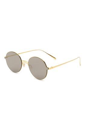 Солнцезащитные очки Gentle Monster золотые | Фото №1