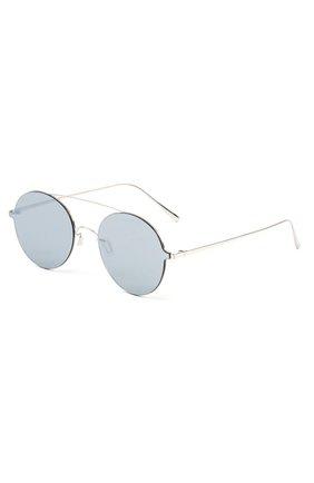Солнцезащитные очки Gentle Monster серебряные | Фото №1