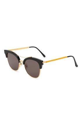Женские солнцезащитные очки GENTLE MONSTER черного цвета, арт. TELL ME S. 01 | Фото 1