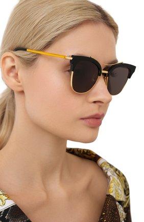 Женские солнцезащитные очки GENTLE MONSTER черного цвета, арт. TELL ME S. 01 | Фото 2