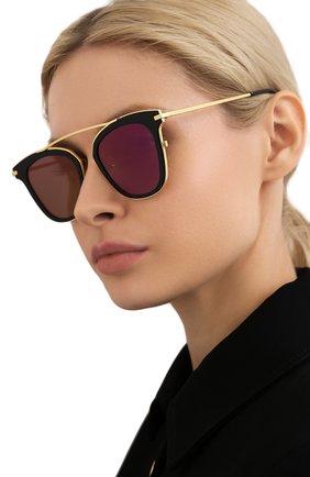 Женские солнцезащитные очки GENTLE MONSTER черного цвета, арт. X T0ME N0.1 SUPERNATURE 01 (9M) | Фото 2