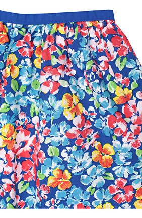 Юбка из хлопка с цветочным принтом | Фото №2