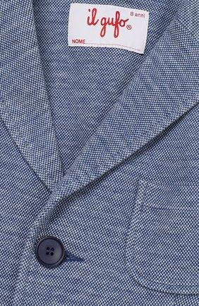 Однобортный пиджак джерси | Фото №2