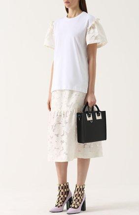 Кружевная юбка-миди Mother Of Pearl белая | Фото №1