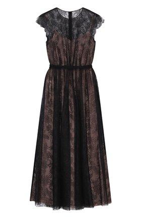 Приталенное кружевное платье-миди   Фото №1