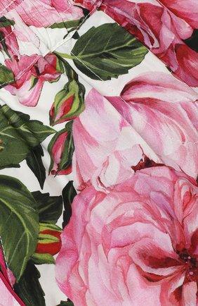 Шорты из хлопка с цветочным принтом Dolce & Gabbana белого цвета   Фото №2