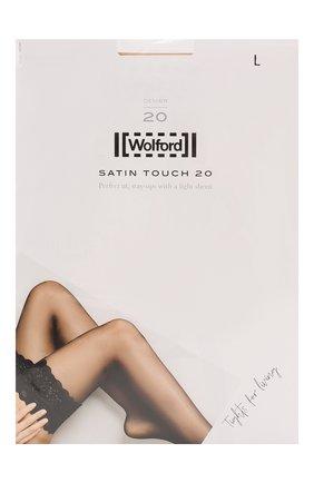 Женские капроновые чулки WOLFORD светло-бежевого цвета, арт. 21223 | Фото 1