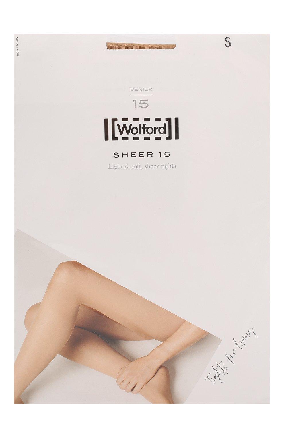 Женские капроновые колготки WOLFORD бежевого цвета, арт. 18381 | Фото 1