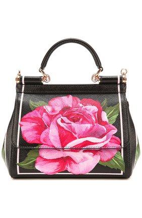 Сумка Sicily small с принтом Dolce & Gabbana розовая цвета | Фото №1