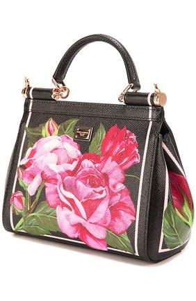 Сумка Sicily small с принтом Dolce & Gabbana розовая цвета | Фото №3