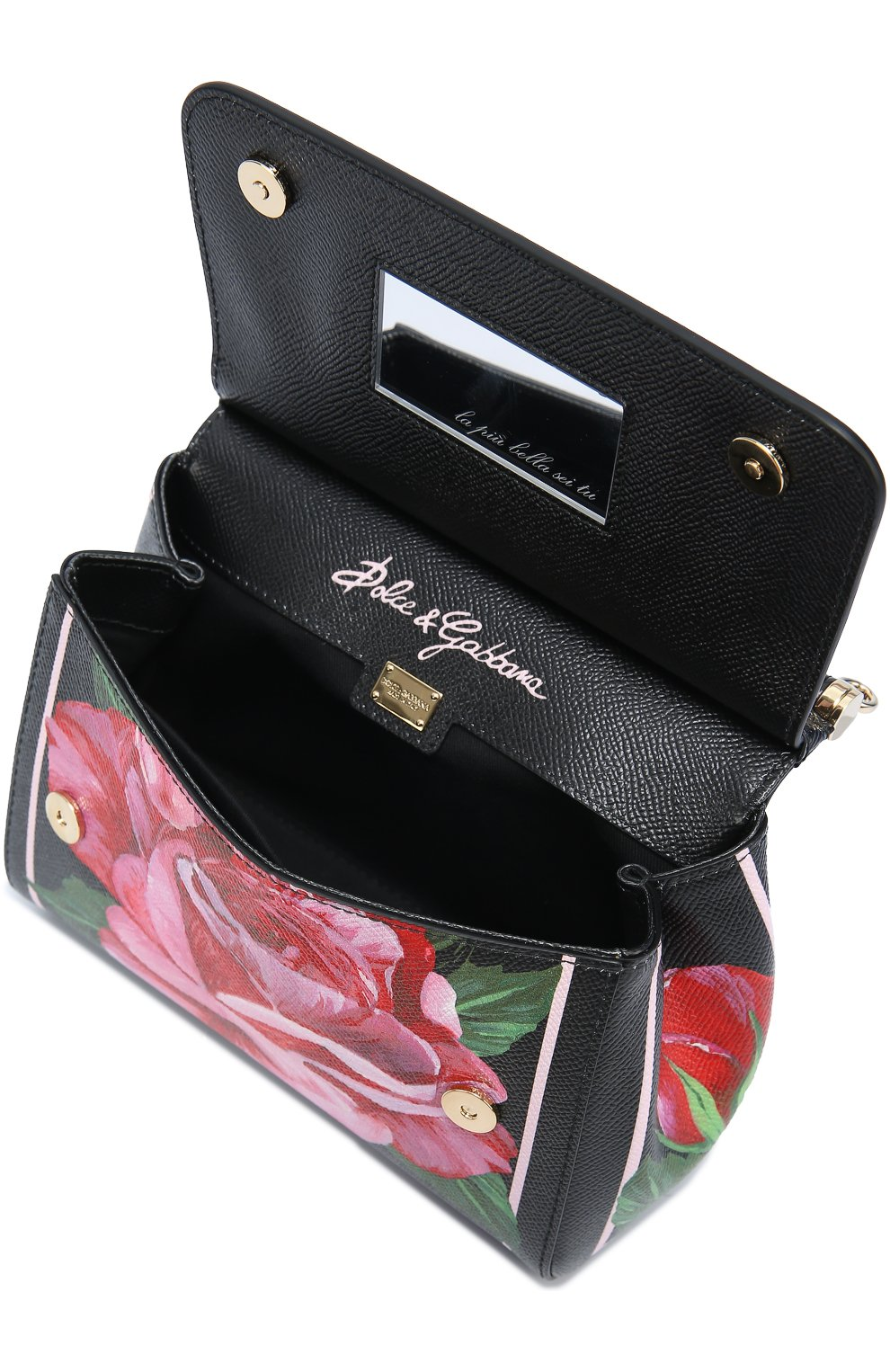 Сумка Sicily small с принтом Dolce & Gabbana розовая цвета | Фото №4