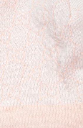 Детского шапка из шерсти с принтом GUCCI розового цвета, арт. 418599/3K206   Фото 2 (Статус проверки: Проверена категория, Проверено; Материал: Шерсть)
