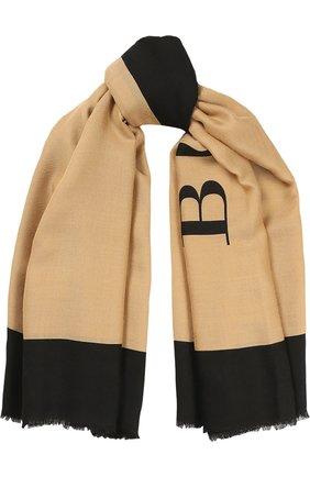 Шарф с логотипом из смеси шерсти и шелка | Фото №1