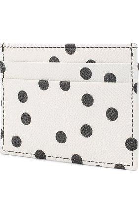 Кожаный футляр для кредитных карт с принтом Dolce & Gabbana черно-белого цвета | Фото №2