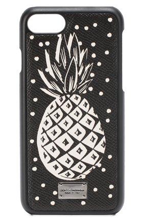 Кожаный чехол для iPhone 7 с принтом Dolce & Gabbana  | Фото №1