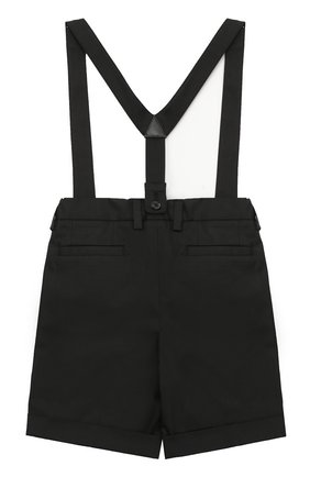 Шорты из хлопка с подтяжками Dolce & Gabbana черного цвета | Фото №2