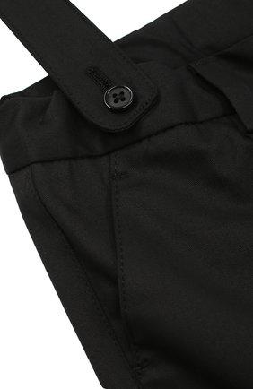 Шорты из хлопка с подтяжками Dolce & Gabbana черного цвета | Фото №3