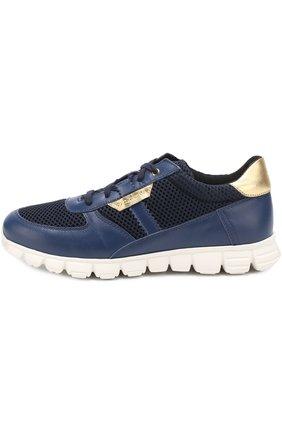 Комбинированные кроссовки на шнуровке | Фото №2