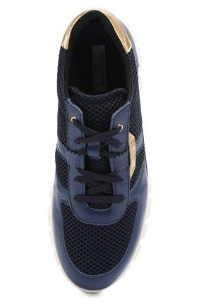 Комбинированные кроссовки на шнуровке | Фото №4