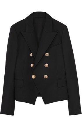 Пиджак из шерсти с декорированными пуговицами | Фото №1