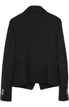 Пиджак из шерсти с декорированными пуговицами | Фото №2