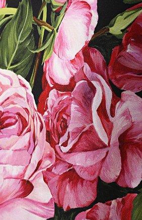 Юбка-карандаш с цветочным принтом и широким поясом | Фото №5