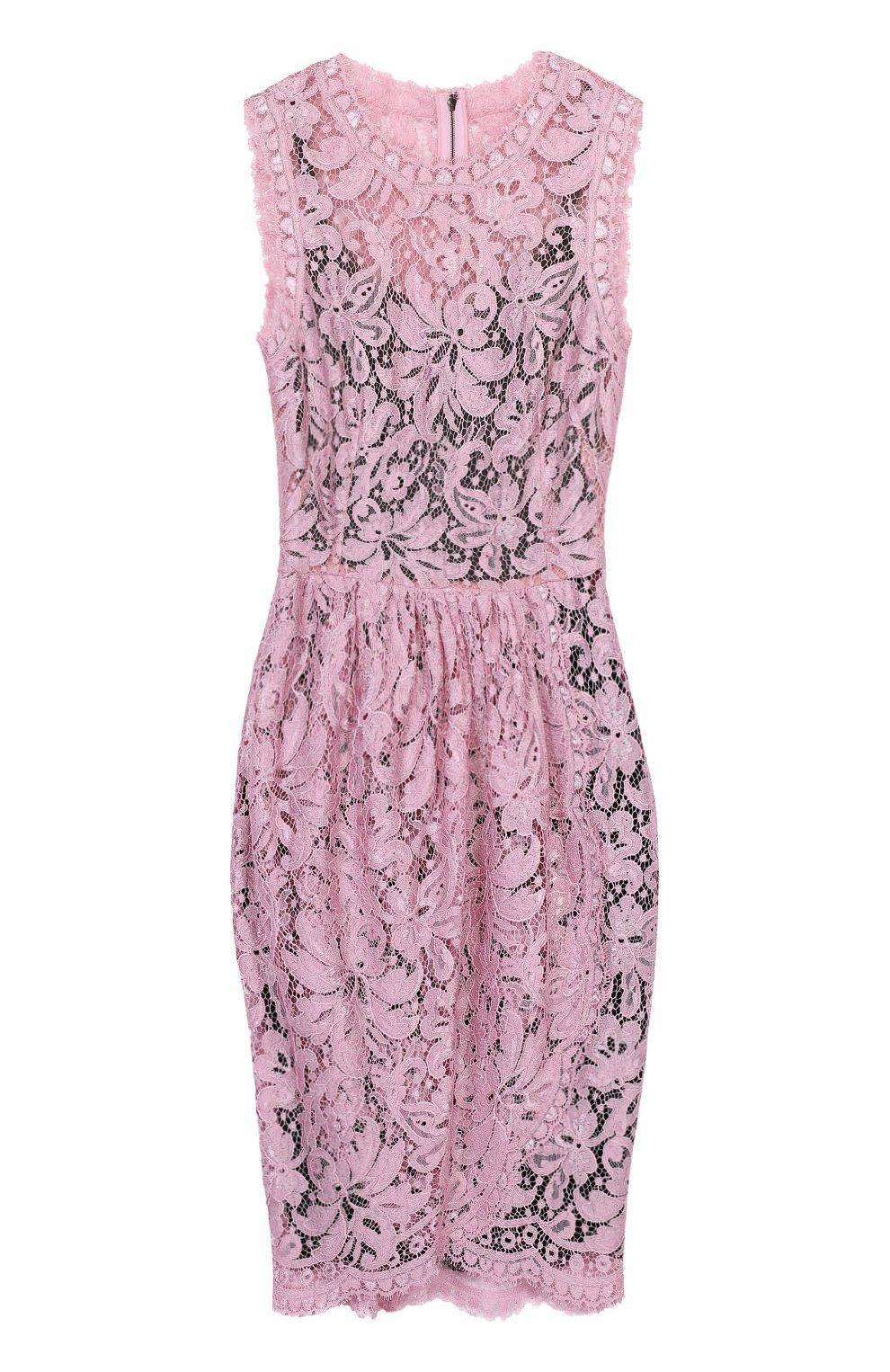 Кружевное мини-платье с драпировкой | Фото №1