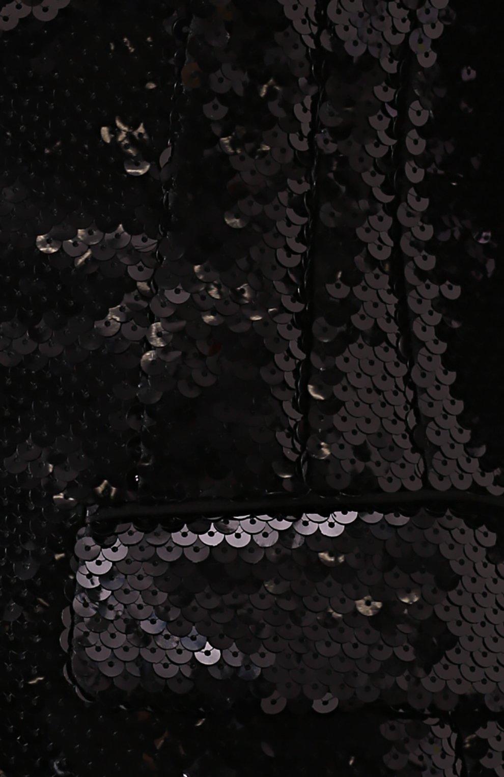 Приталенный жакет с пайетками и шелковой отделкой | Фото №5