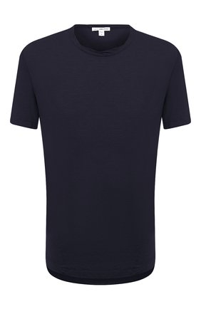 Мужская хлопковая футболка JAMES PERSE темно-синего цвета, арт. MKJ3360 | Фото 1