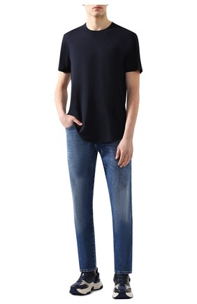 Мужская хлопковая футболка JAMES PERSE темно-синего цвета, арт. MKJ3360 | Фото 2
