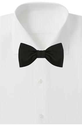 Мужской шелковый галстук-бабочка LANVIN черного цвета, арт. 11504/B0W TIE | Фото 2
