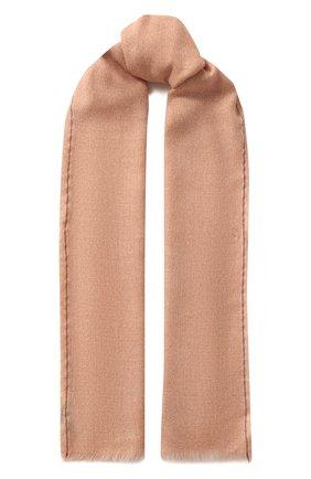 Мужской шарф из смеси кашемира и шелка LORO PIANA светло-розового цвета, арт. FAE3318 | Фото 1