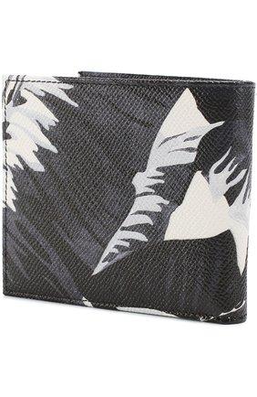 Кожаное портмоне с принтом и отделениями для кредитных карт | Фото №2
