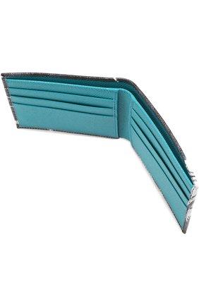 Кожаное портмоне с принтом и отделениями для кредитных карт | Фото №3