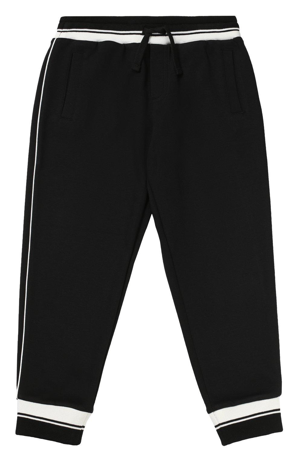 Спортивные брюки с контрастной отделкой | Фото №1