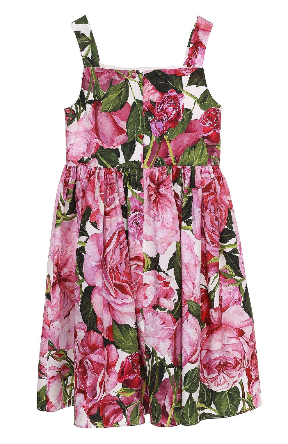Платье из хлопка с цветочным принтом | Фото №2
