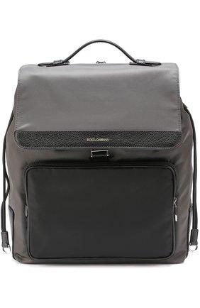 Текстильный рюкзак с внешним карманом на молнии | Фото №1
